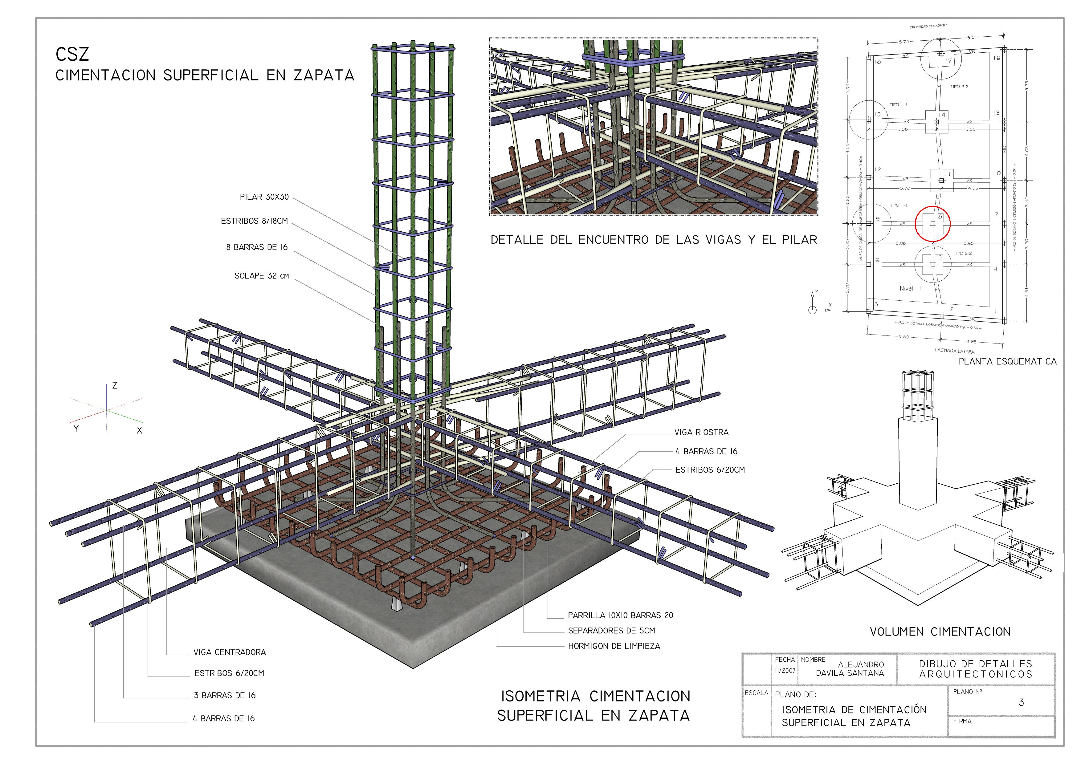 Detalles constructivos i alejandro d vila santana for Normas para planos arquitectonicos