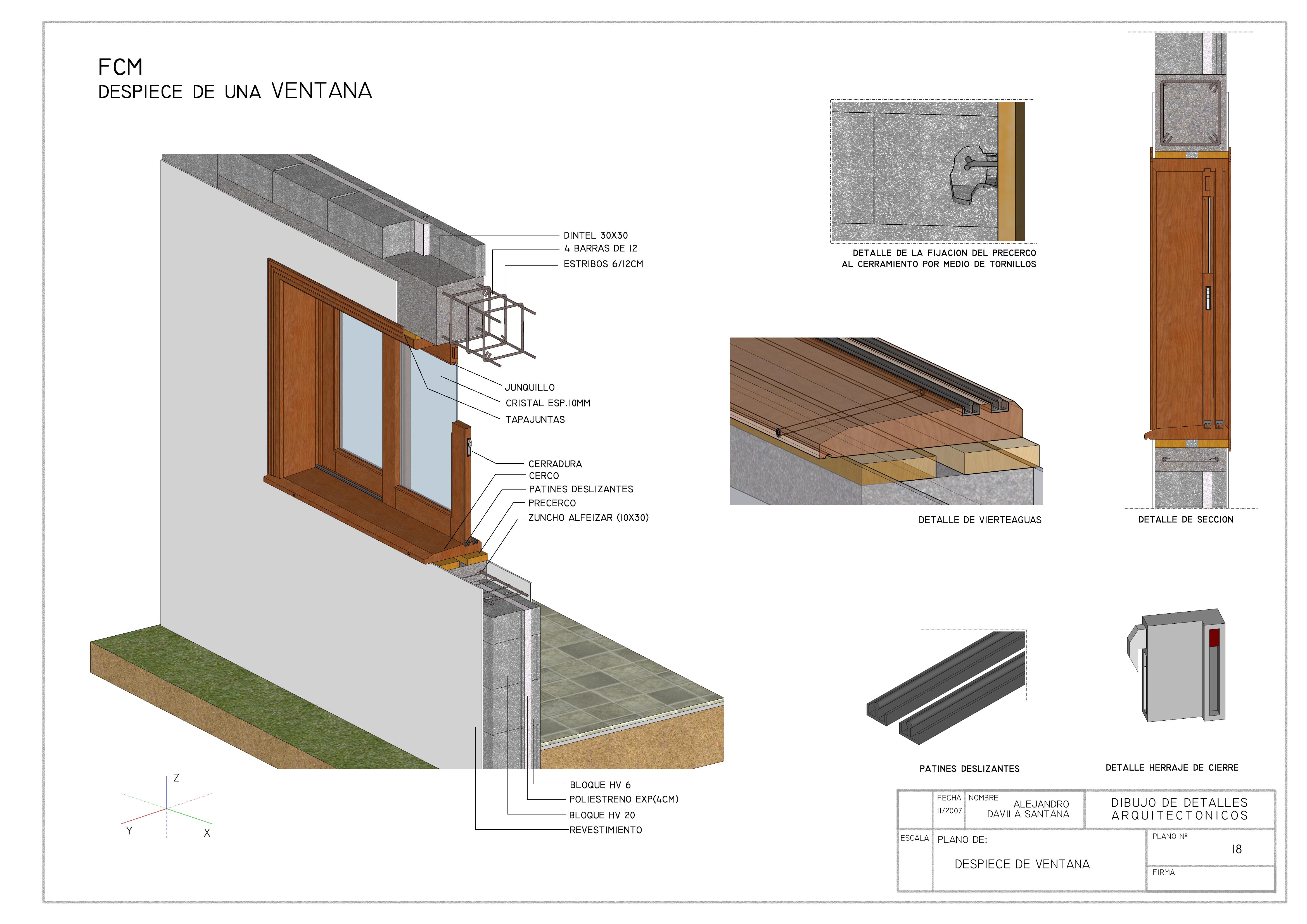 Detalles constructivos iii alejandro d vila santana - Detalle carpinteria aluminio ...